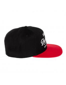 Бейсболка червоно-чорна