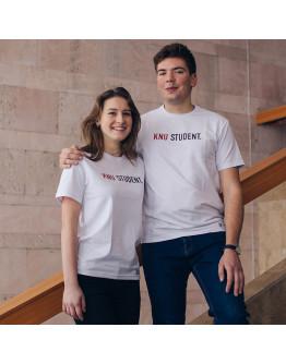 Біла футболка KNU STUDENT