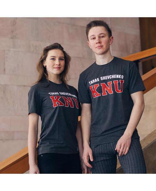 Темно-сіра футболка KNU