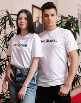 Біла футболка KNU ALUMNI